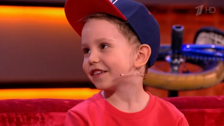 5-летний велосипедист из Красноярска попал на шоу к Галкину на Первом канале