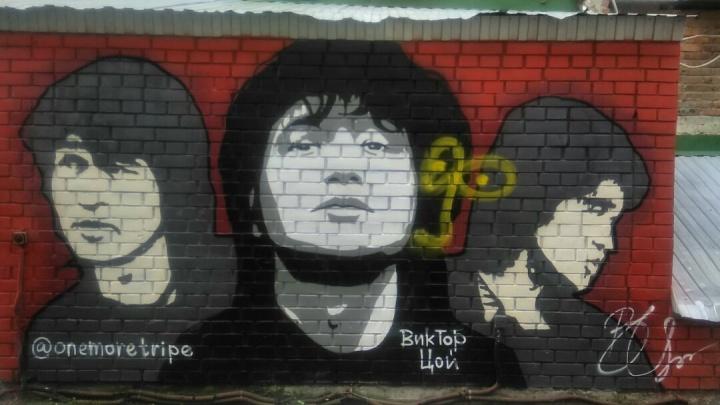 Вандалы испортили стену Виктора Цоя на Любинском проспекте