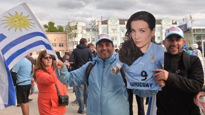 Уругвайский экстаз: смотрим, как гуляют фанаты в Екатеринбурге после матча ЧМ