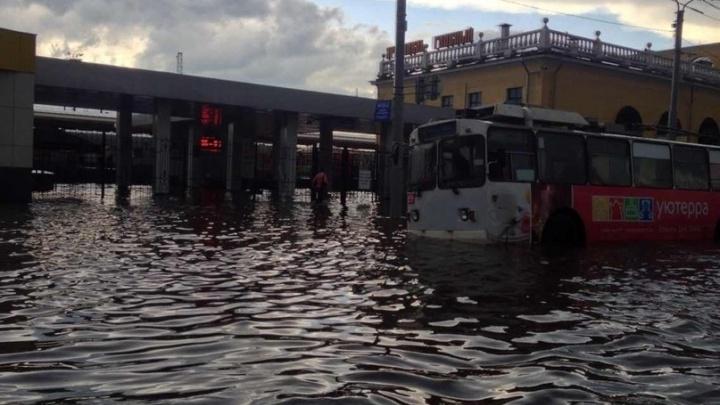 Вокзал Ярославль-Главный ушёл под воду: видео с места потопа
