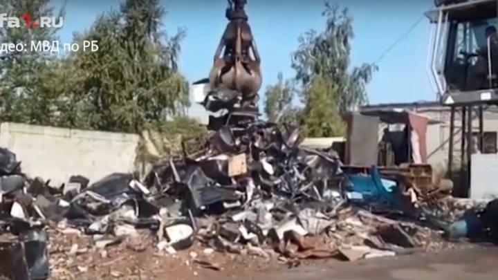 130 «одноруких бандитов» отправили под пресс: в Башкирии уничтожили изъятые игральные автоматы