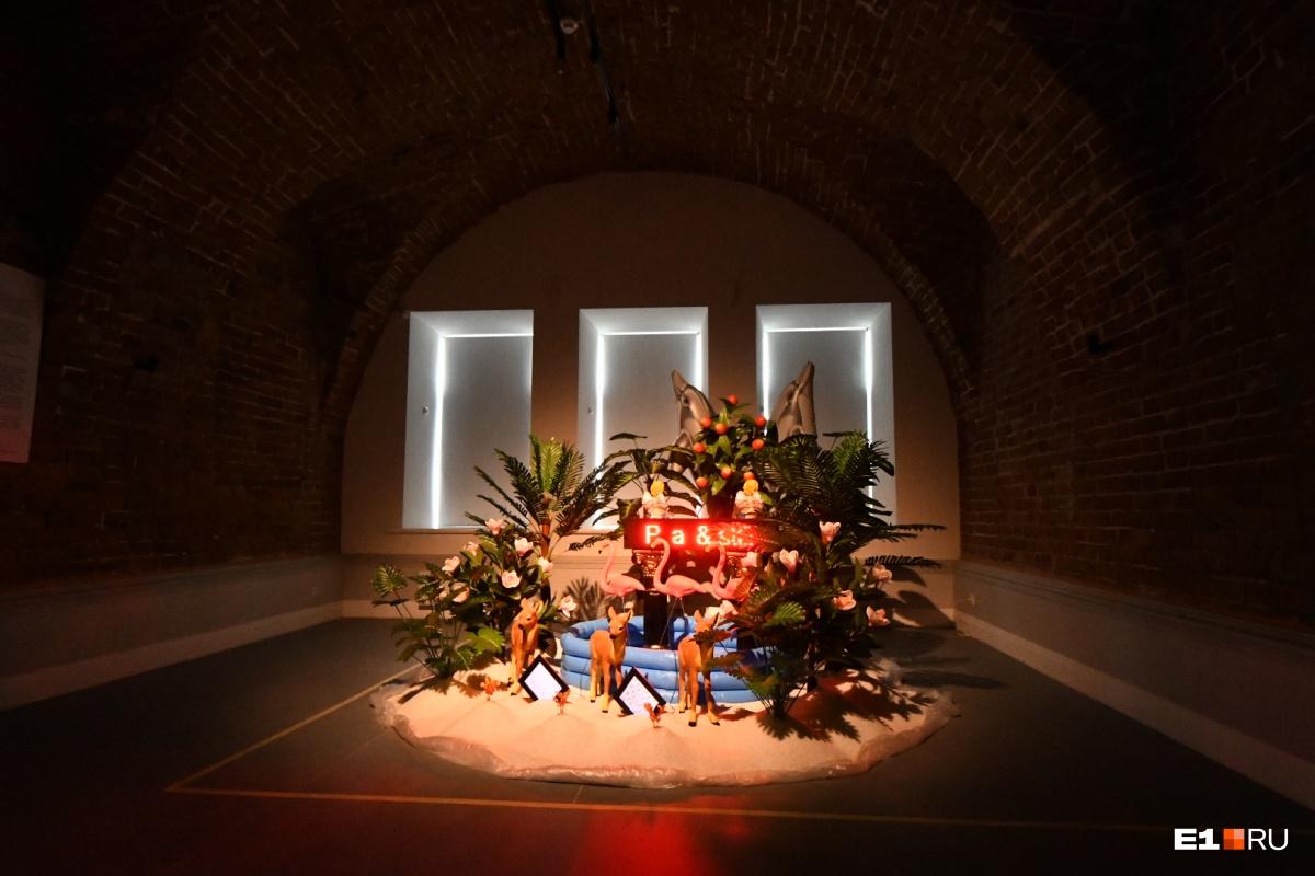 Самый подлинный зал, где сохранилась историческая кладка. Здесь тоже арт-объект в рамках биеннале