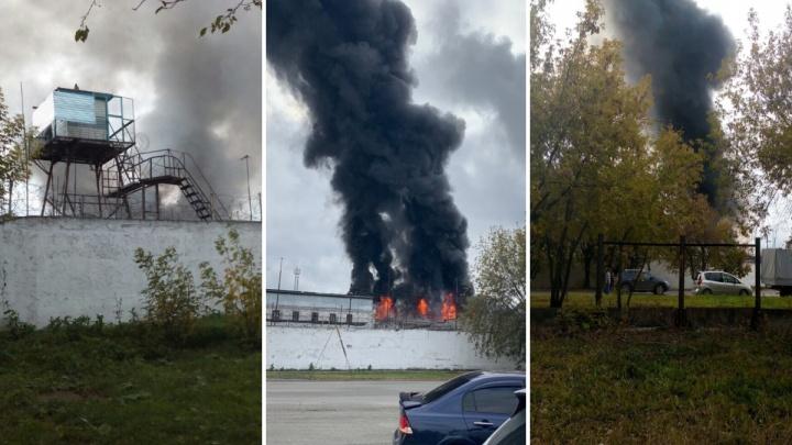 Спасатели назвали возможную причину пожара в тюменской колонии в районе Дома Обороны