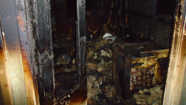 Двое мужчин погибли в пожаре в Вельском районе