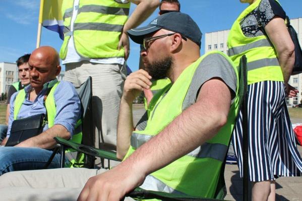 Дмитрия Секушина задержали на «Экобессрочке» на площади Ленина