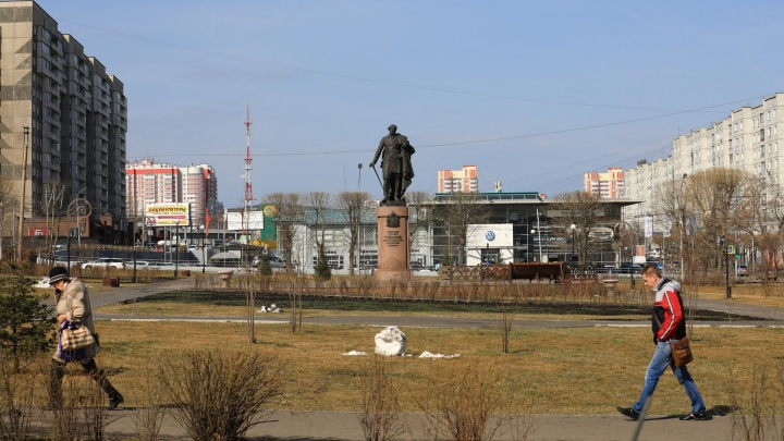 В Красноярске появилась новая остановка и два сквера