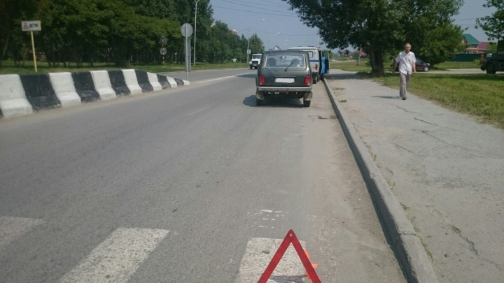 «Нива» сбила женщину с коляской на пешеходном переходе под Новосибирском