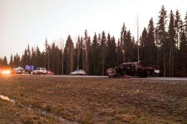 Участок трассы, на котором произошла авария