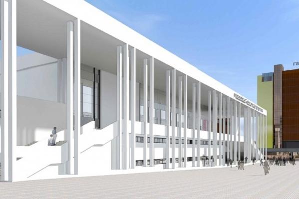 Будущее сооружение будет выглядеть так