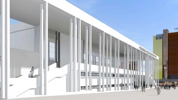 Стали известна высота будущего дворца спорта на Молодогвардейской