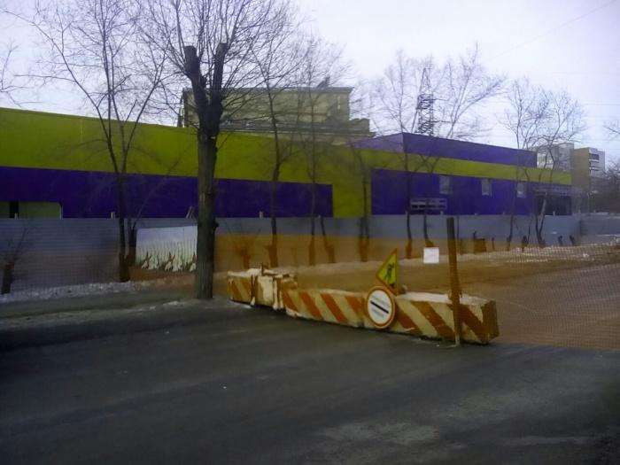 Строящаяся «Лента» на улице Котовского