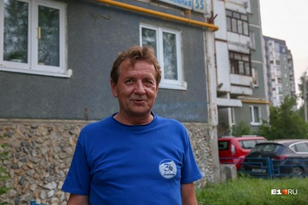 Андрей Колесов на стройке работал водителем самосвала<br>