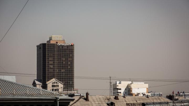 Над Новосибирском навис серый смог