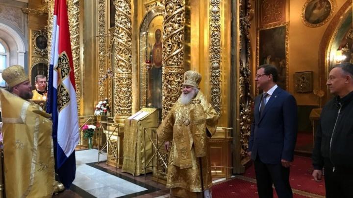 Копия самарского знамени будет храниться в Богоявленском соборе Москвы