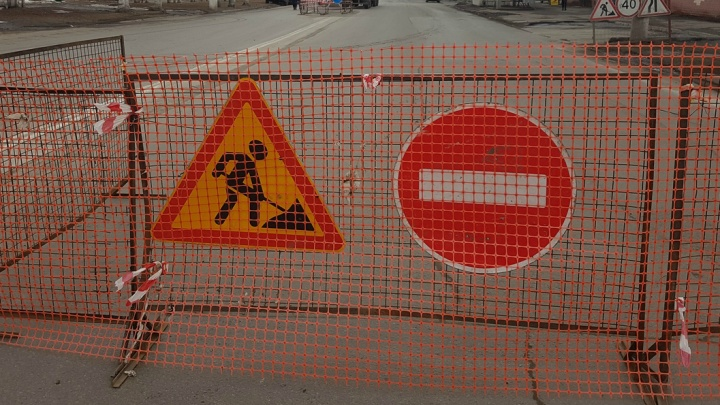 Перекрытие улиц, примыкающих к Сибирской, в Кургане продлили до 15 апреля