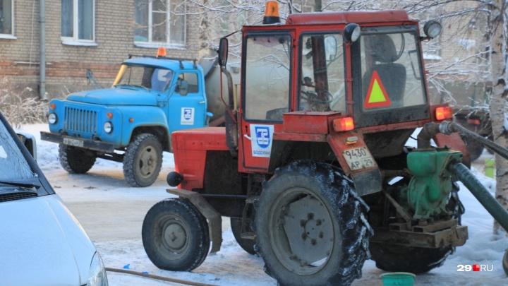 Из-за морозов «РВК-центр» передумал отключать воду в трех округах Архангельска