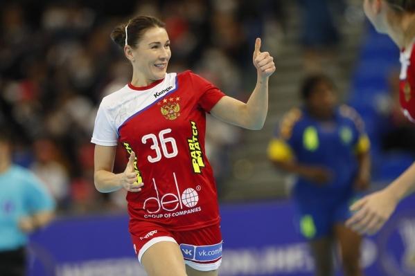Юлия Манагарова забросила 12 мячей в ворота Черногории