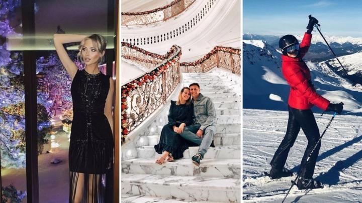 На юге и горнолыжных склонах. Смотрим, как знаменитости из Тюмени встретили Новый год