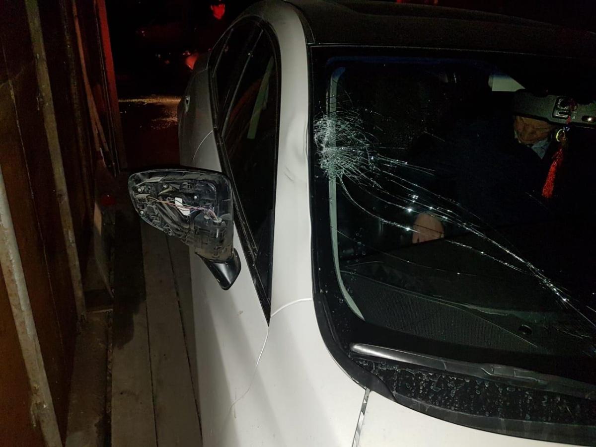 Повреждения на машине Горбунова от столкновения с пешеходом