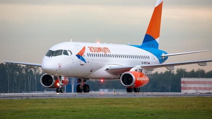 В Толмачёво на 8 часов перенесли вылет рейса на Sukhoi Superjet