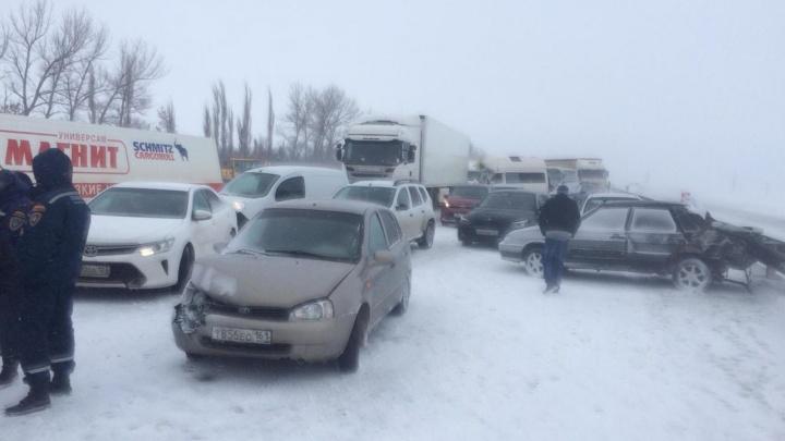 Путь свободен: на трассе М-4 «Дон» устранили последствия столкновений двенадцати машин