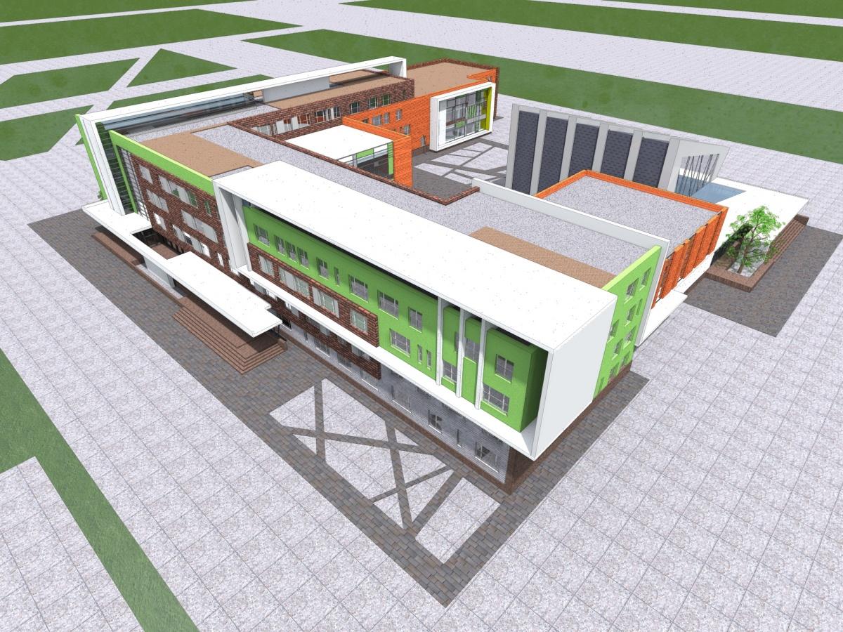 Общая площадь второго «путинского» образовательного центра — 25 тысяч кв. м
