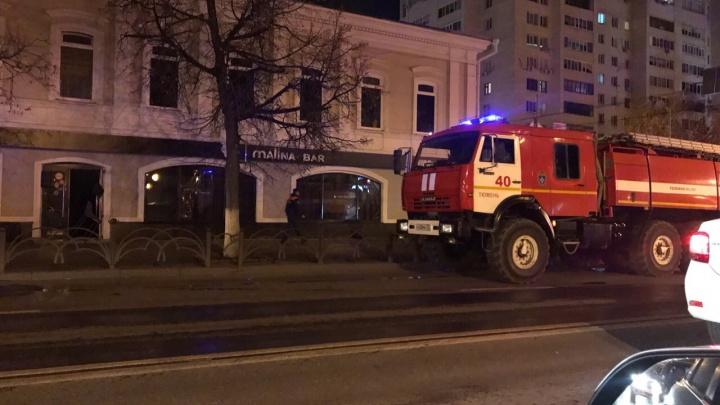 В МЧС назвали точную причину вечернего пожара в здании Malina bar на Первомайской