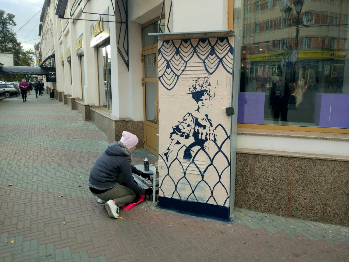 Художники находили одинокие будки и разрисовывали их
