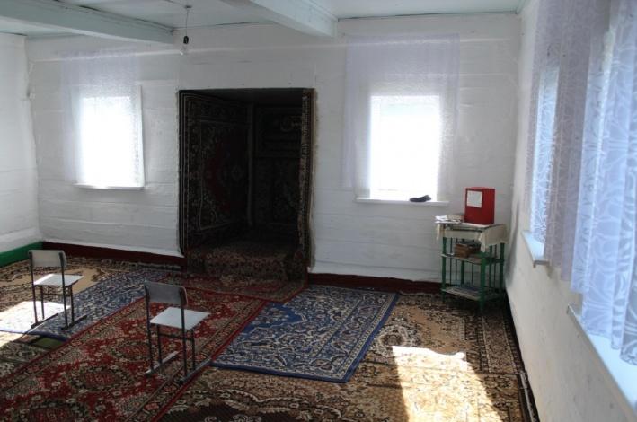 Мечеть в деревне Черталы, Муромцевский район. Вид изнутри