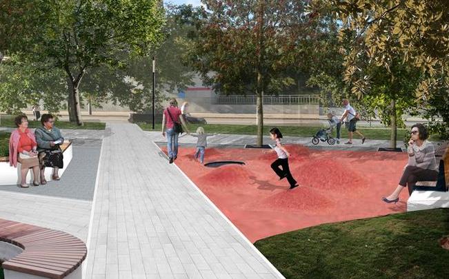 Самый «зеленый» сквер: власти показали эскизы парка в Железнодорожном районе