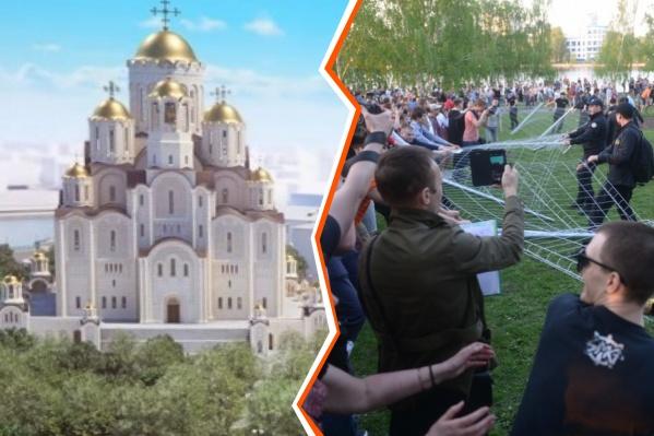 Авторы подкаста пытаются разобраться, почему россияне начали выступать против строительства новых храмов