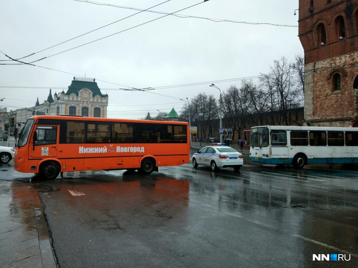 Площадь Минина будет недоступна для проезда до 19:00