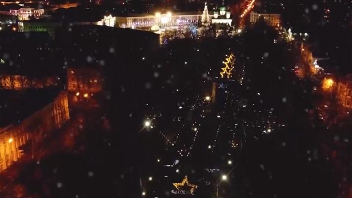 Ярославец снял новогодний город с высоты птичьего полёта