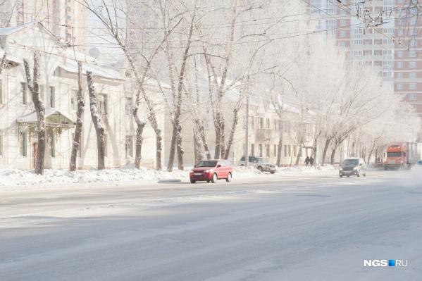 Крещенские морозы задержатся в Новосибирске ненадолго