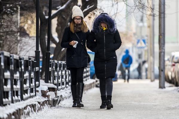 В выходные горожан ждёт лёгкий мороз — столбик термометра может опуститься до –11 градусов