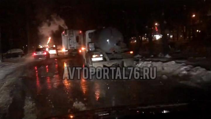 В Ярославле затопило самый большой проспект в городе