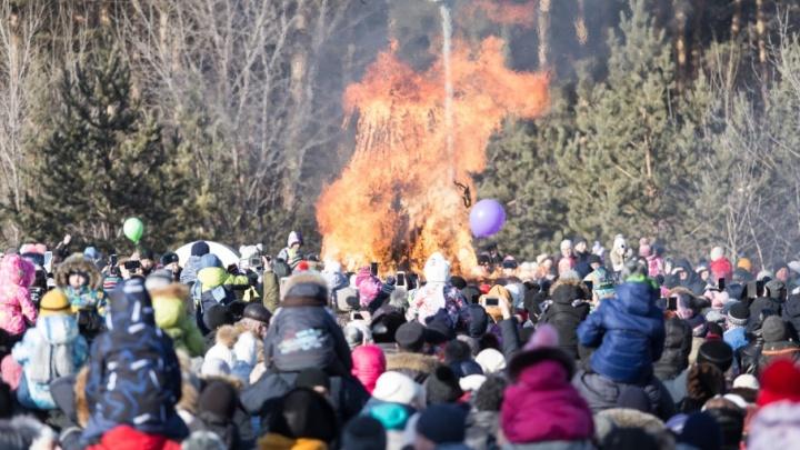 Блины, шашлыки и гири: как Челябинск отгулял Масленицу