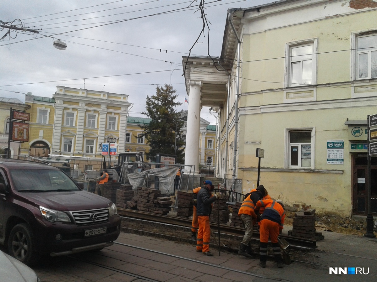 Трамваи закончили ходить по характерным маршрутам вцентре Нижнего Новгорода