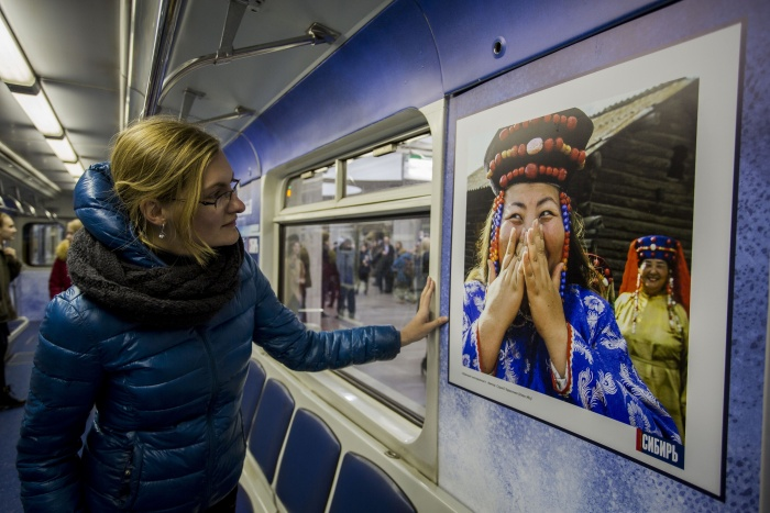 Поезд-галерея с фотографиями Сибири вышел на линию 18 апреля