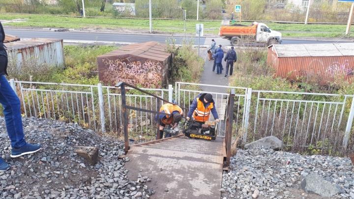 «Народ годами ходит и будет ходить»: в Архангельске на Смольном убрали переход через железную дорогу