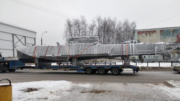 Из Перми привезли 19-метровый торпедный катер, который проектировал авиаконструктор Туполев