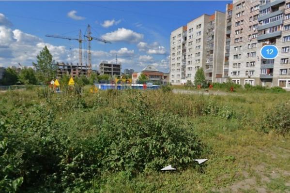 Детская площадка, на которой произошёл несчастный случай