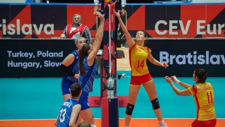 Российские волейболистки обыграли испанок и досрочно вышли в плей-офф ЧЕ-2019