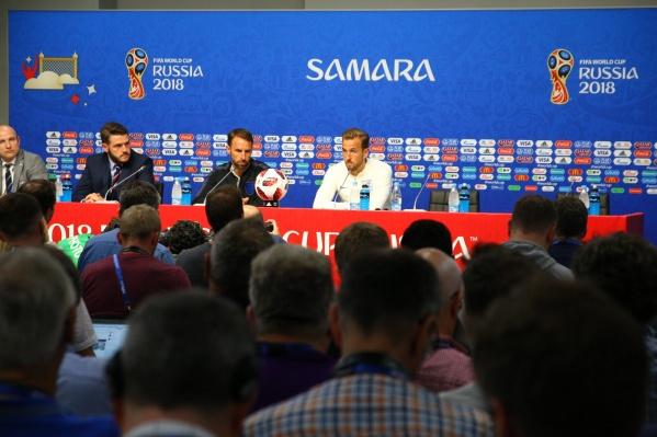 На «Самара Арене» англичане провели только предматчевую пресс-конференцию