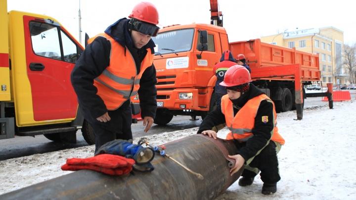 Красноярские теплоэнергетики получили «отлично» при ликвидации условного повреждения на теплосети