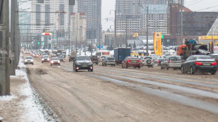 На Московском шоссе и Ново-Садовой замерят колейность