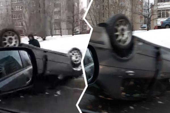 Причиной серьёзной аварии очевидцы называют состояние дороги