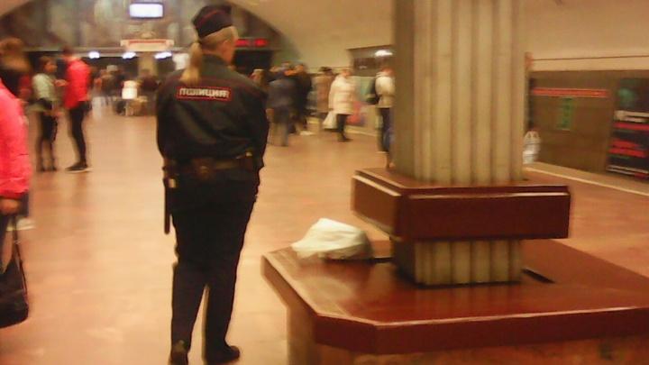 Полиция по тревоге выставила оцепление на станции метро «Площадь Ленина»