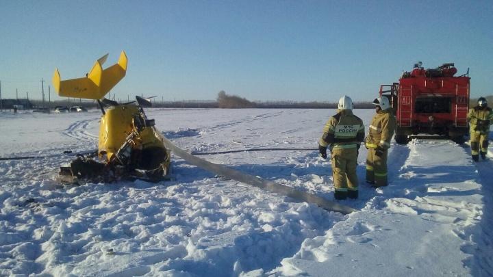В Новосибирской области упал гироплан