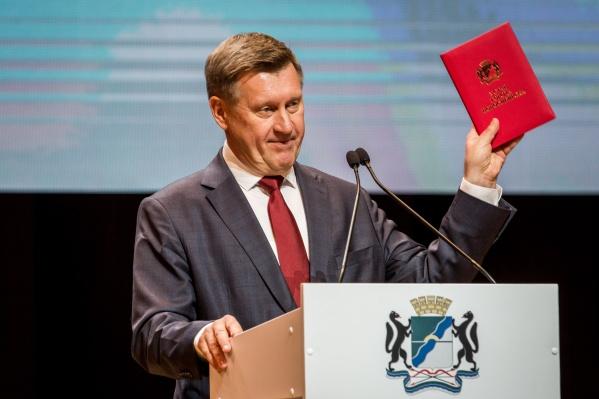 Анатолий Локоть будет работать мэром Новосибирска ещё 5 лет